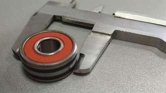 Подшипник генератора с двумя тефлоновыми полосками (10x27x11) Nissan, Subaru 10-050-84W