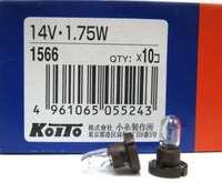 1566 Лампа дополнительного освещения Koito 14V 1.75W T5.1