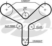 Ремень грм ToyotaLand Cruiser 1002001- 1356859095= Contitech-CT1147= gates-t298