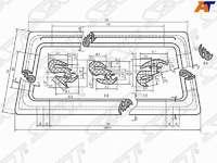 Молдинг лобового стекла (для установки стекла в резинку) HYUNDAI GRACE H100 94-04/MITSUBISHI DELICA/